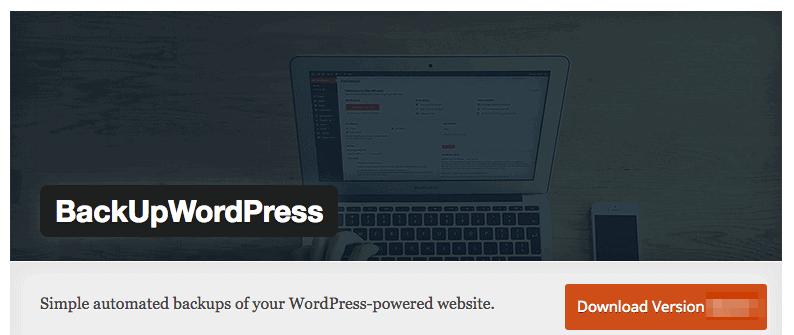 BackUpWordPress plugin for food blog