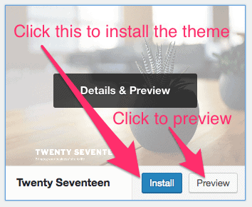installing theme from server on wordpress