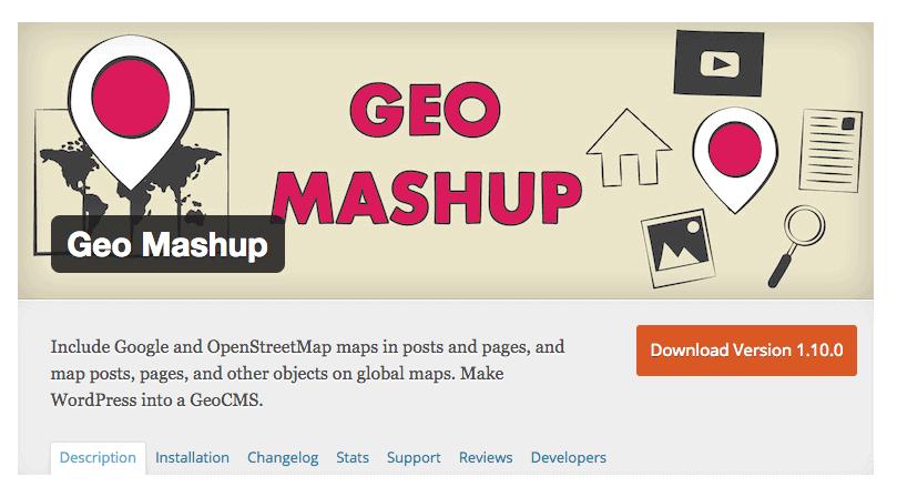 Geo Mashup wordpress plugin