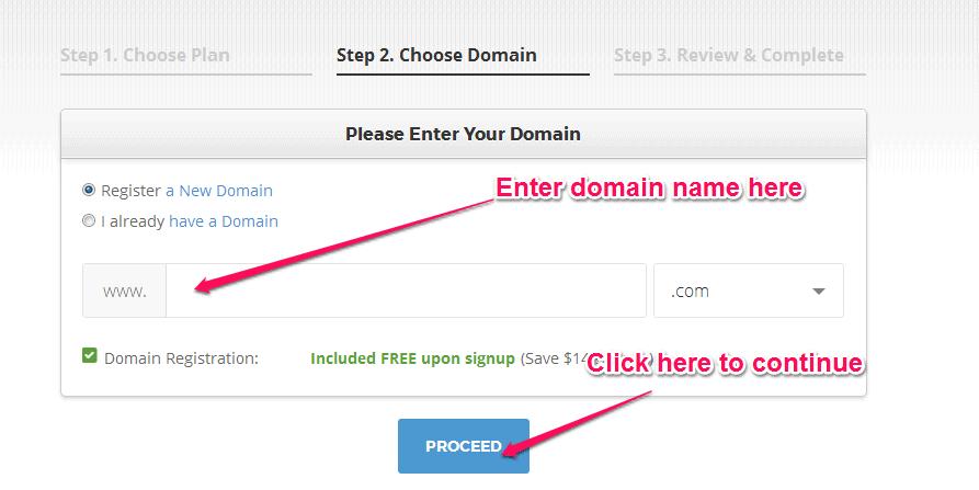 register domain siteground