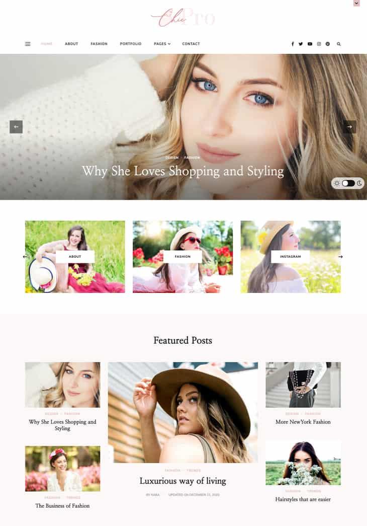 Chic Pro WordPress Theme