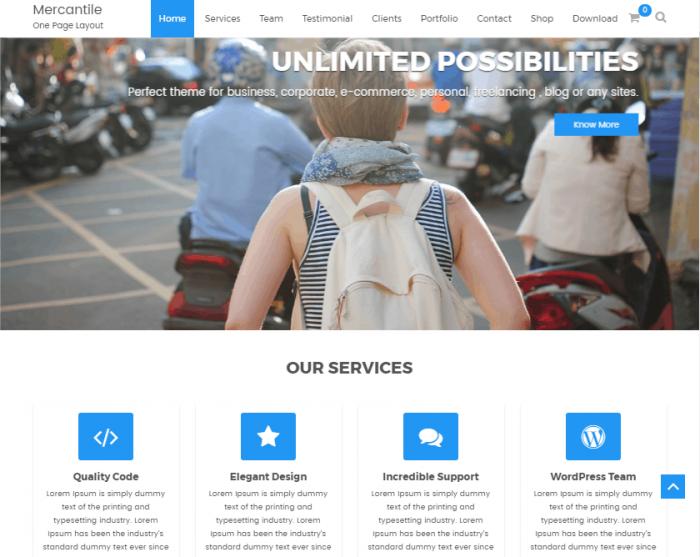 Mercantile WordPress Theme
