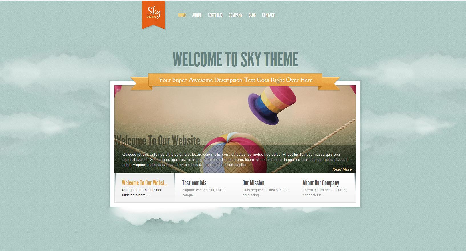 sky WordPress theme divi