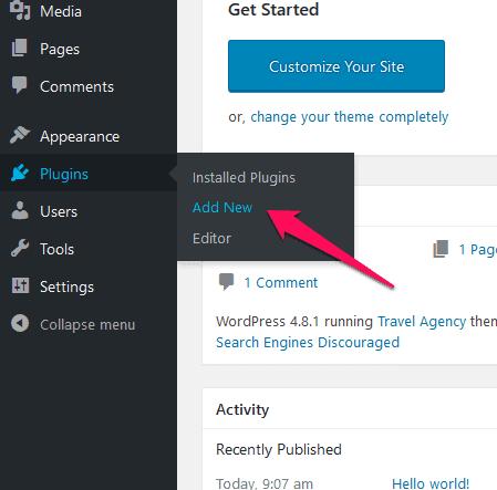 add new WordPress plugin