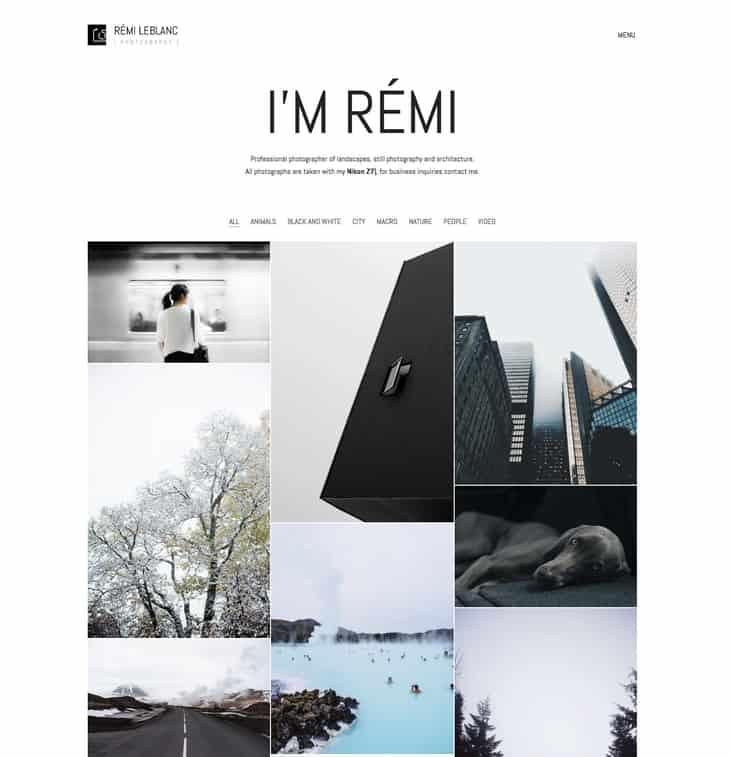 Kalium Photography WordPress Theme