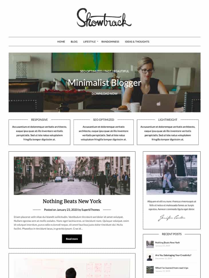 Minimalistblogger WordPress theme