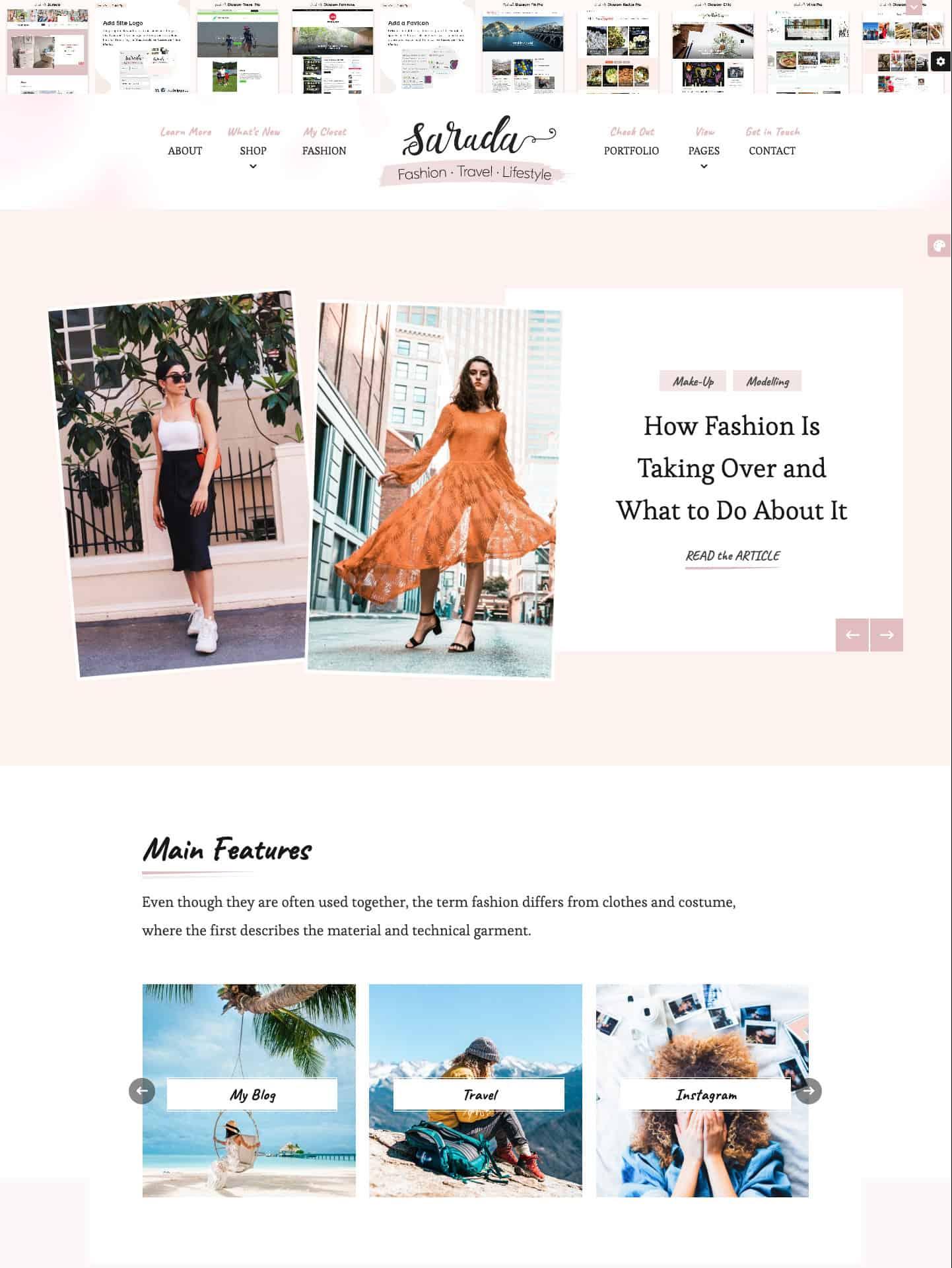 Sarada Pro WordPress Theme