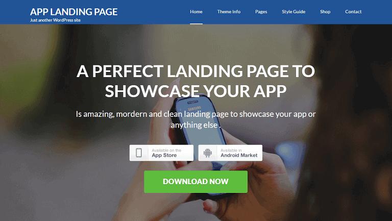 App Landing Page WordPress Theme