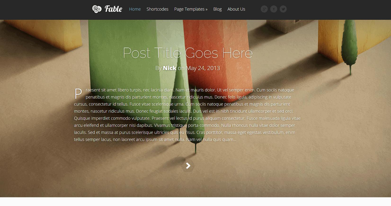 blog WordPress theme