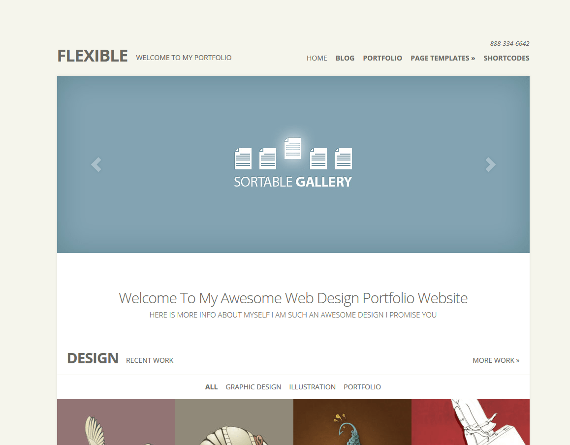 multipurpose portfolio WordPress theme