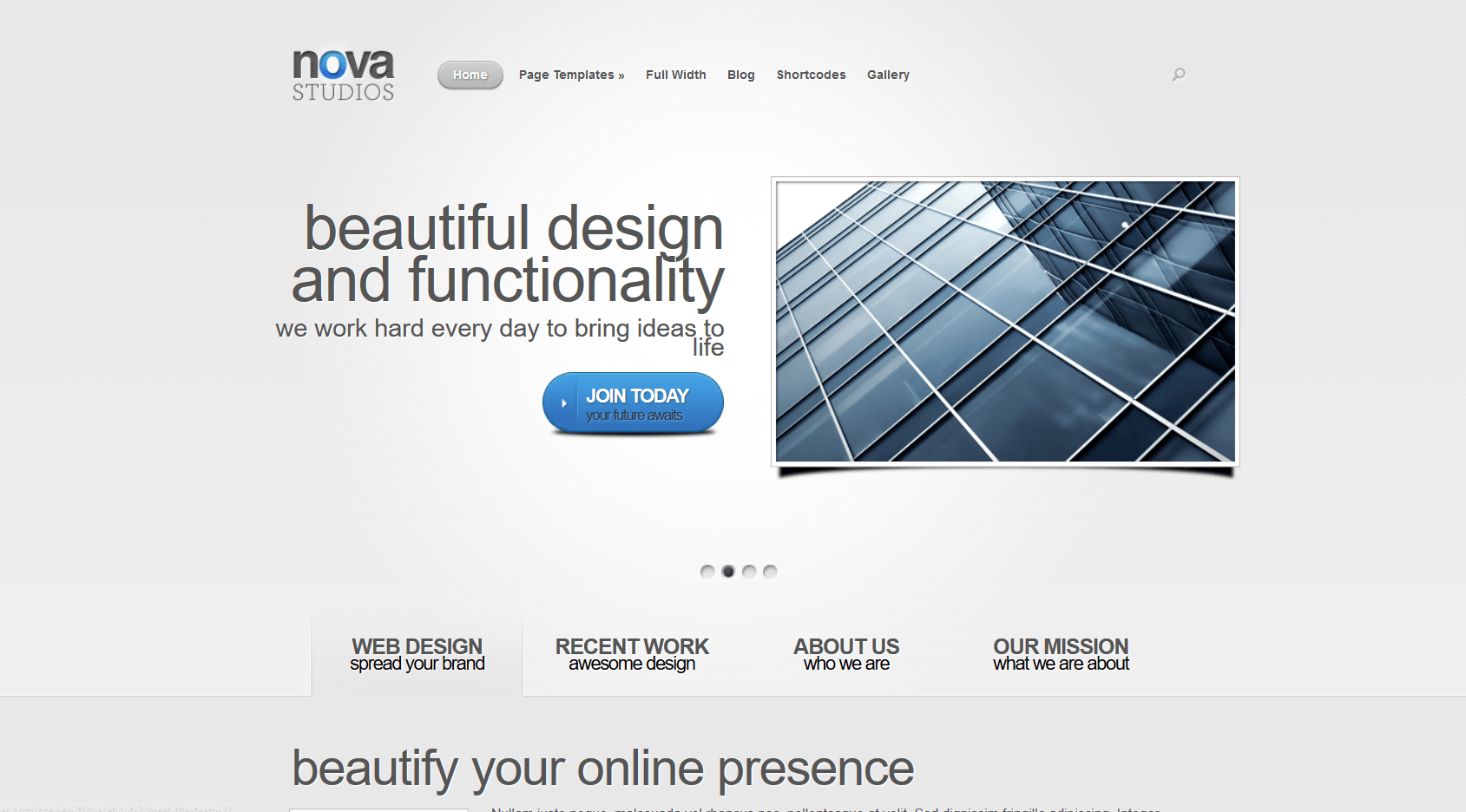nova business WordPress theme