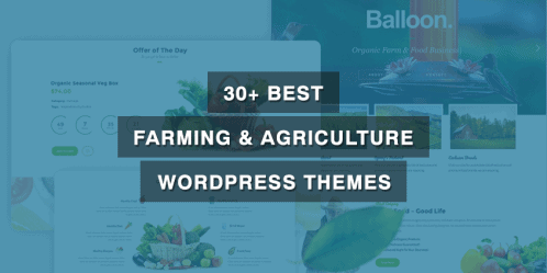 30+ Best Farming & Agriculture WordPress Themes