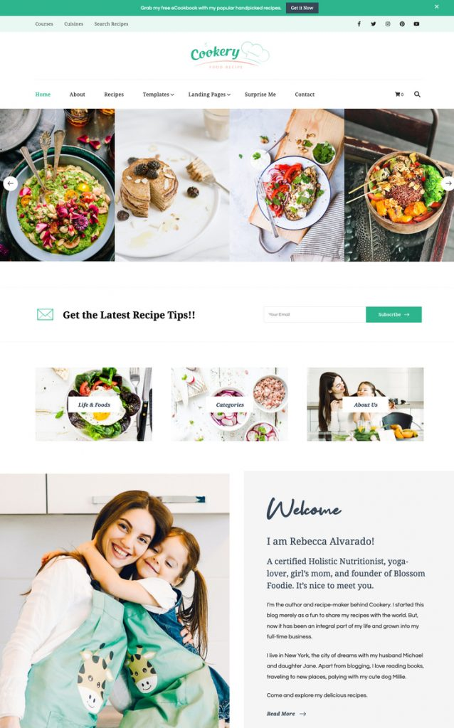Cookery WordPress Theme