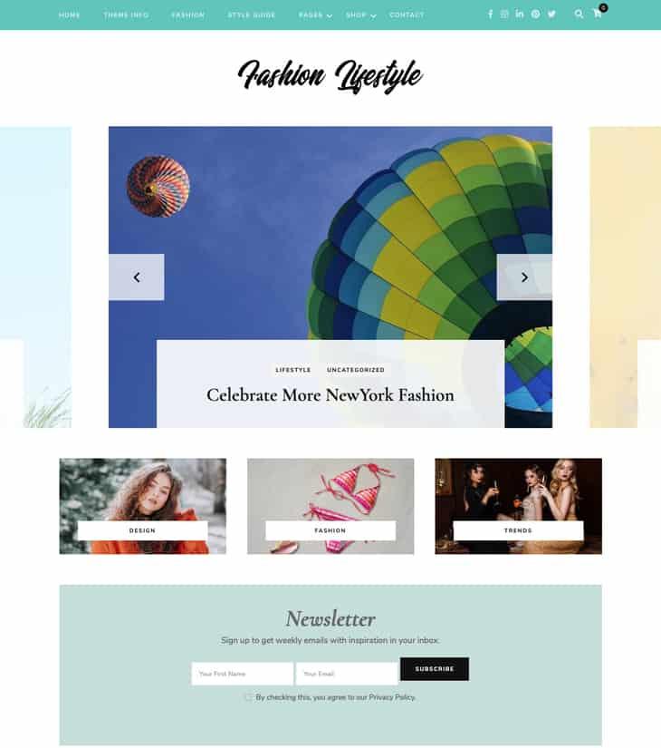 Fashion Lifestyle WordPress Theme