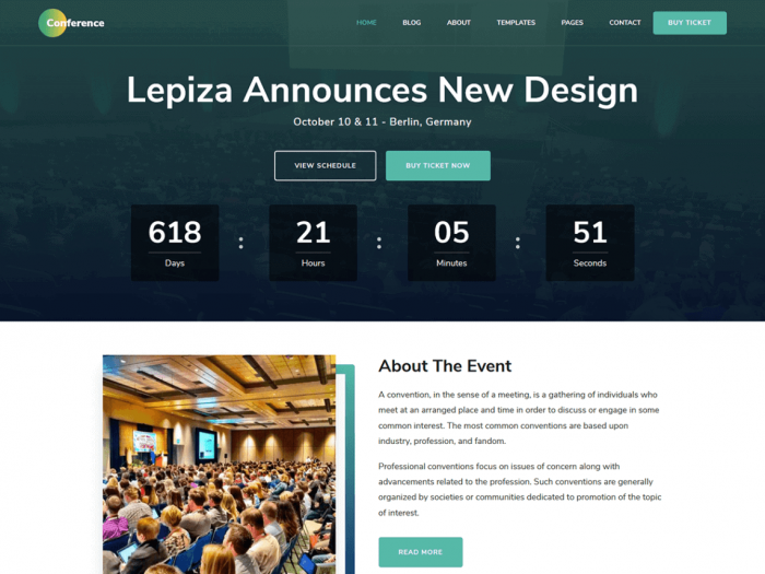 The Conference free WordPress theme