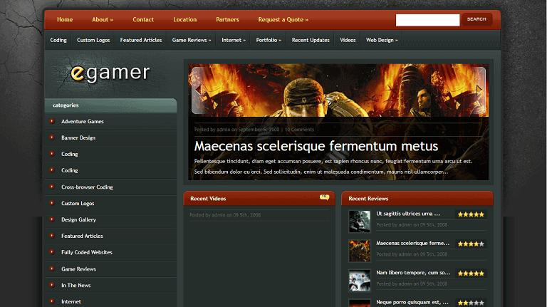 egamer gaming wordpress theme