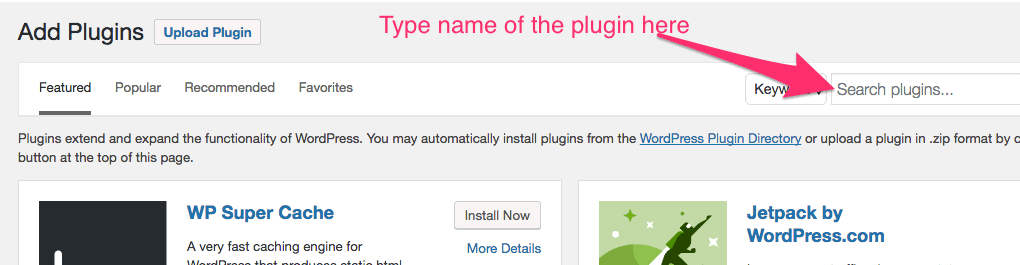 Searching plugin in wordpress