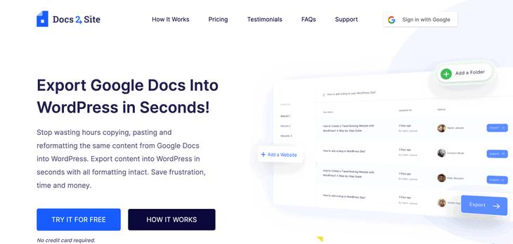 Docs2site