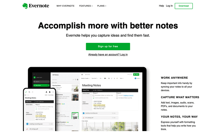 Evernote Best Note Taking App