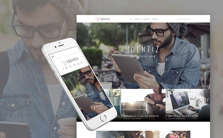 Identiz - Personal Blog Responsive WordPress Theme