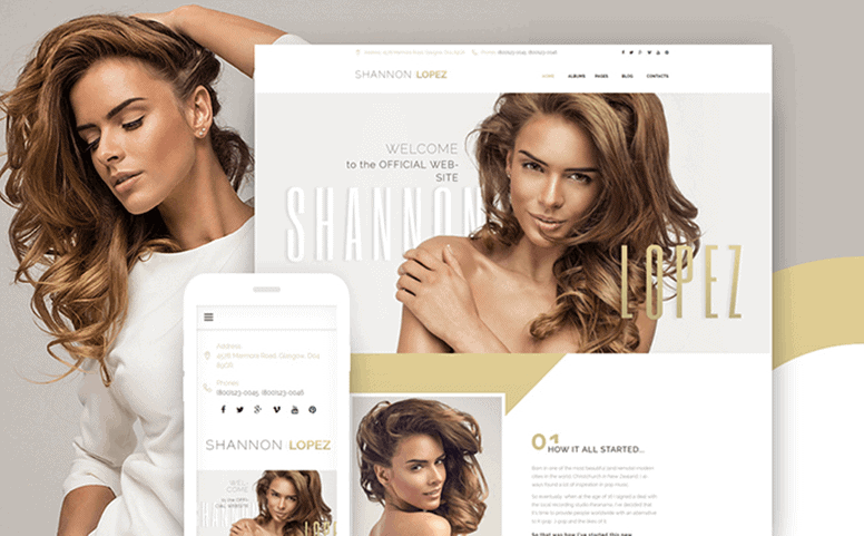 Shannon Lopez - Celebrity Responsive WordPress Theme