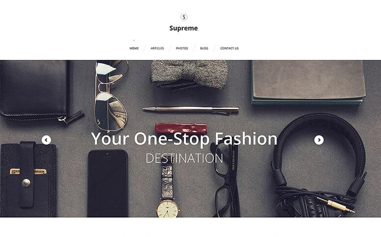 Supreme Fashion Photographer Responsive WordPress Theme