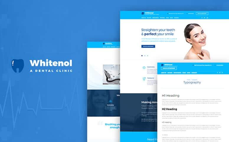 Whitenol - Dentistry Clinic WordPress Theme