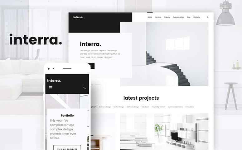 Interra - Interior Designer Portfolio Responsive WordPress Theme