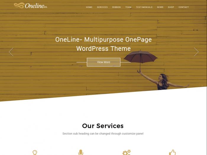 Oneline Lite WordPress Theme
