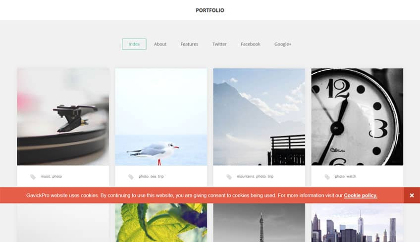 GK Portfolio Free WordPress Theme