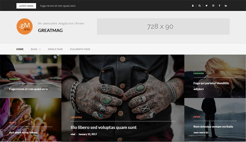 Greatmag free WordPress Theme