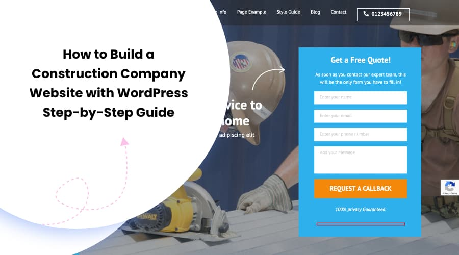 How to Build a Construction Company Website with WordPress – Step-by-Step Guide