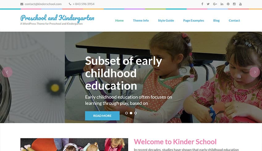 Preschool-and-Kindergarten Free WordPress Theme
