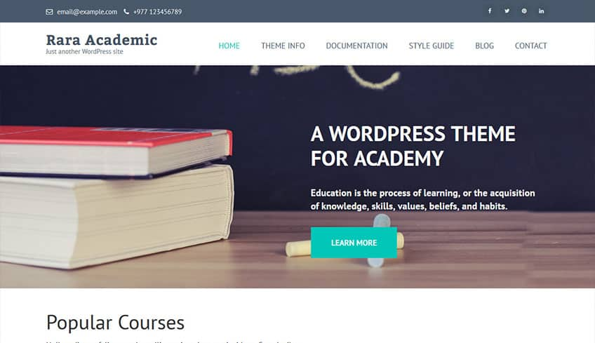 Rara-Academic Free WordPress Theme