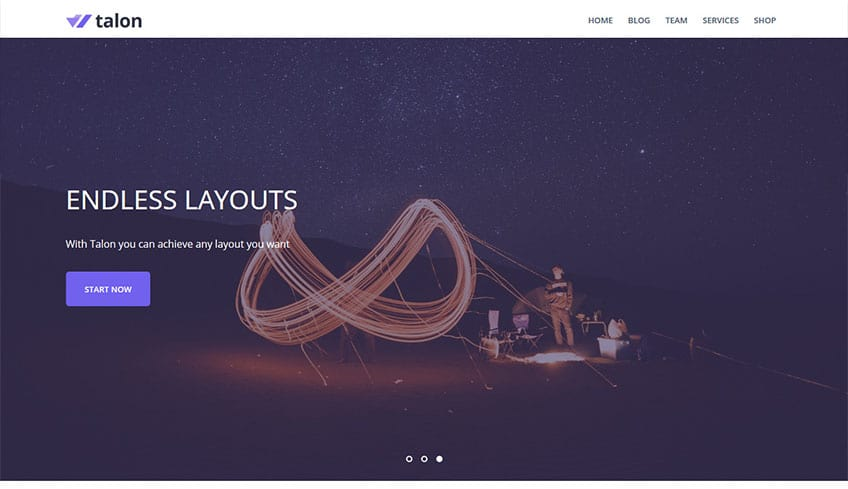 Talon Free WordPress Theme