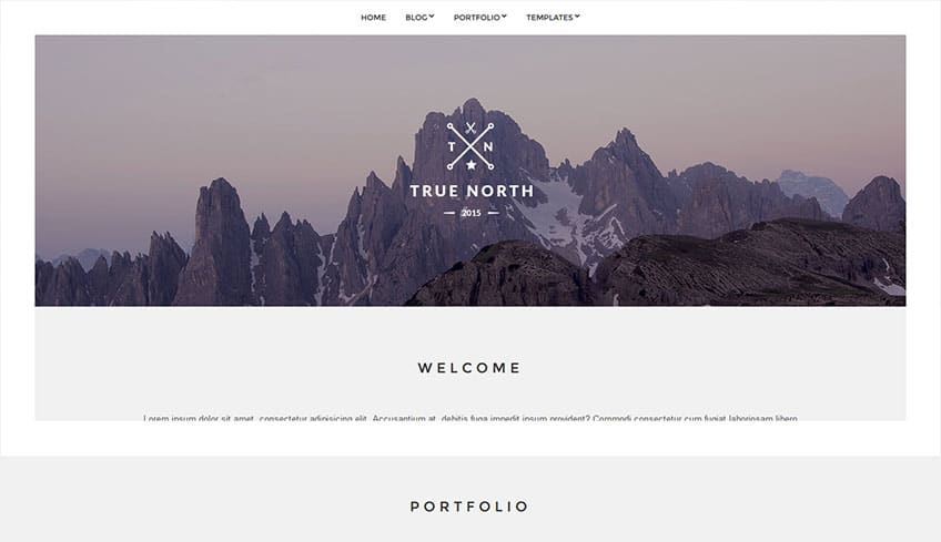 True-North Free WordPress Theme