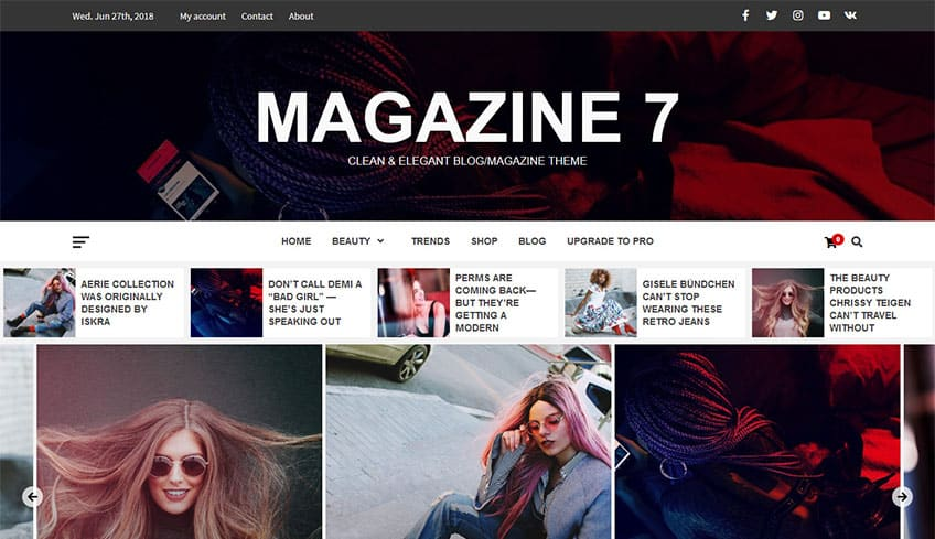 Magazine 7 Free WordPress Theme