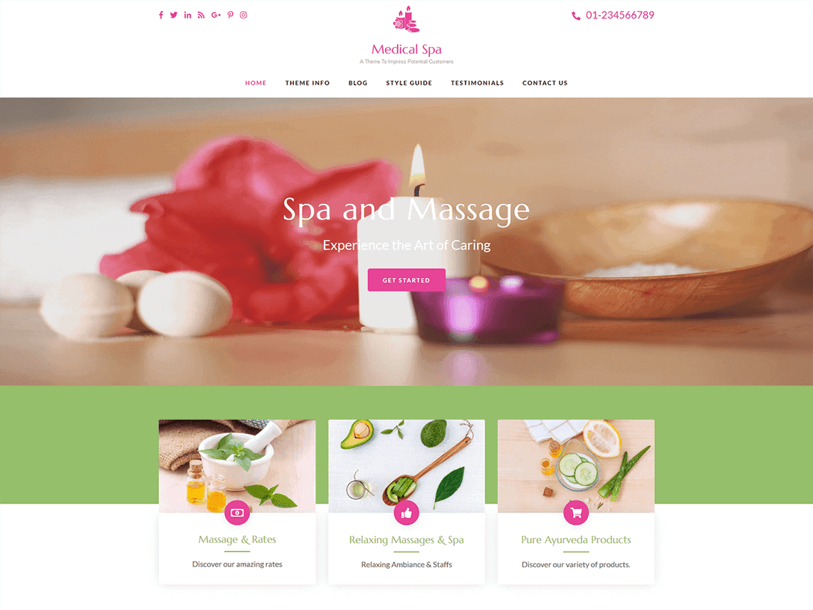 medical spa free WordPress theme