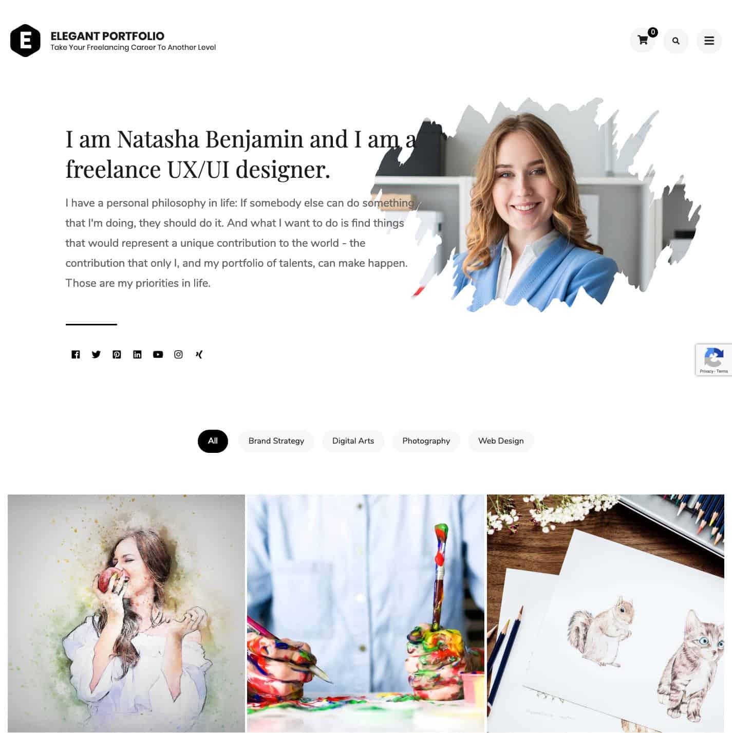Elegant Portfolio WordPress Theme (1)