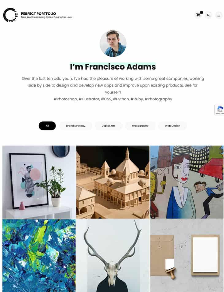 Perfect Portfolio Free WordPress Theme