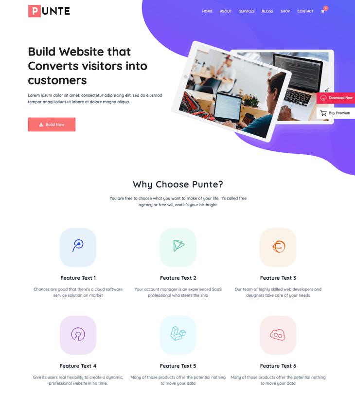 Punte WordPress Theme