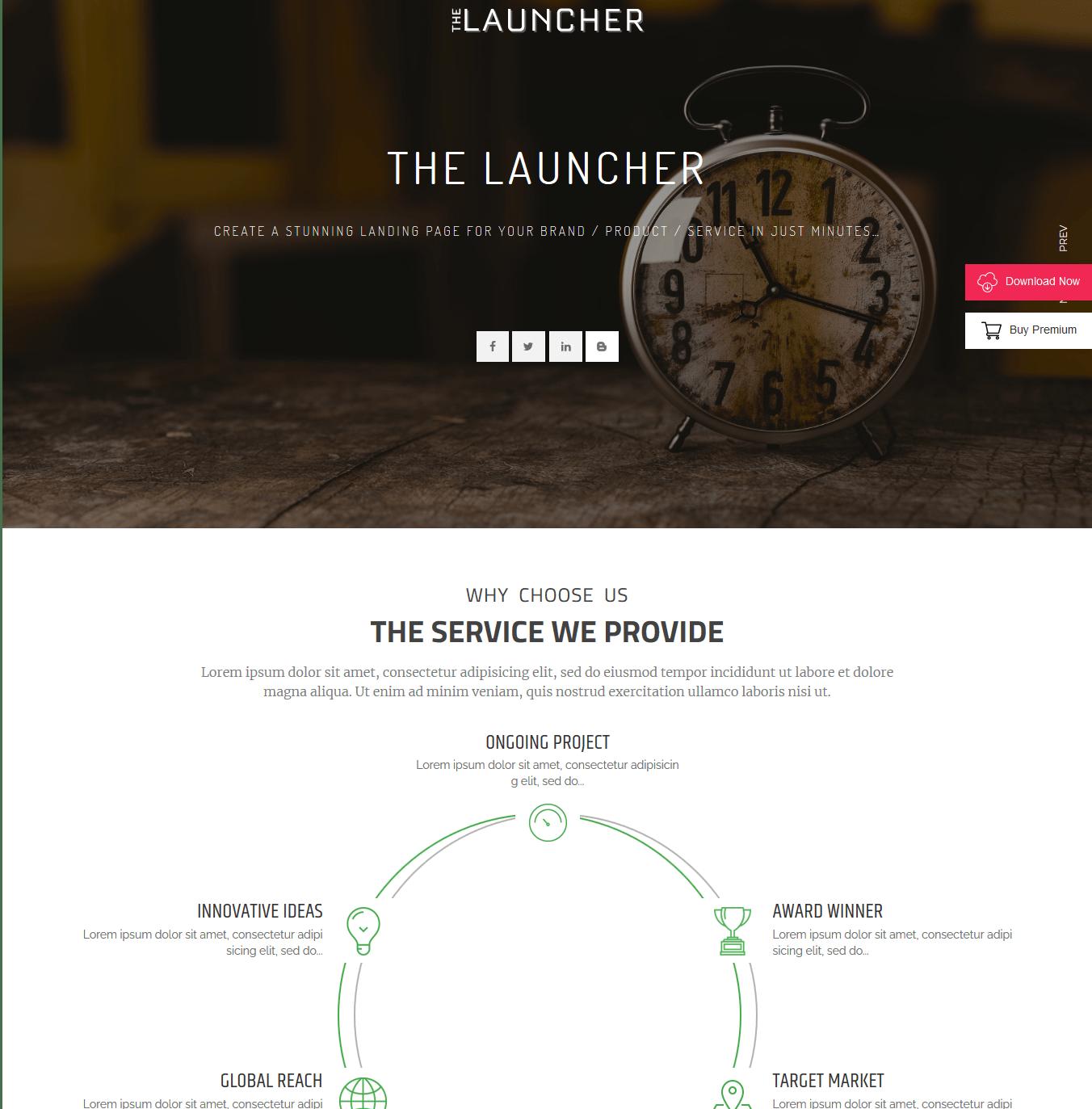 The luncher WordPress Theme