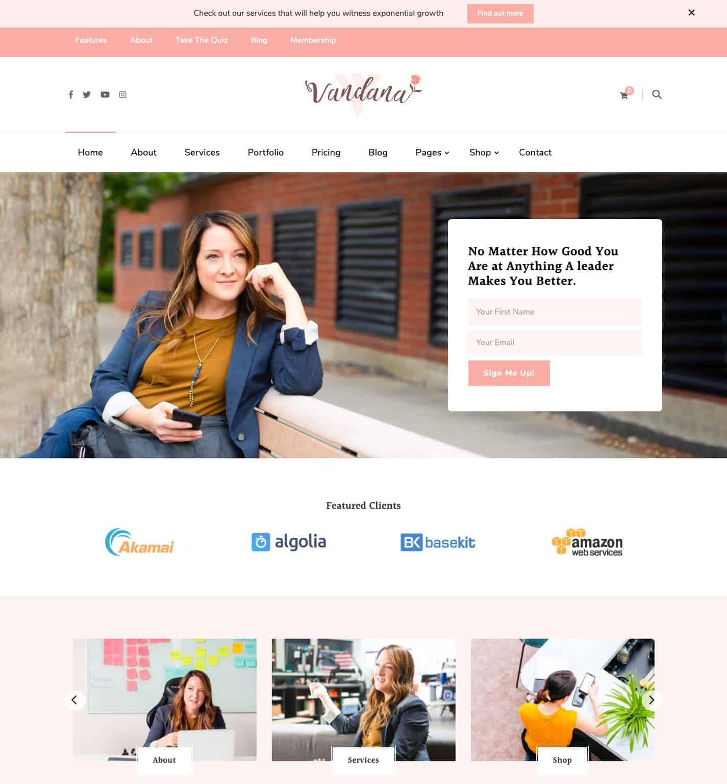 Vandana WordPress Theme