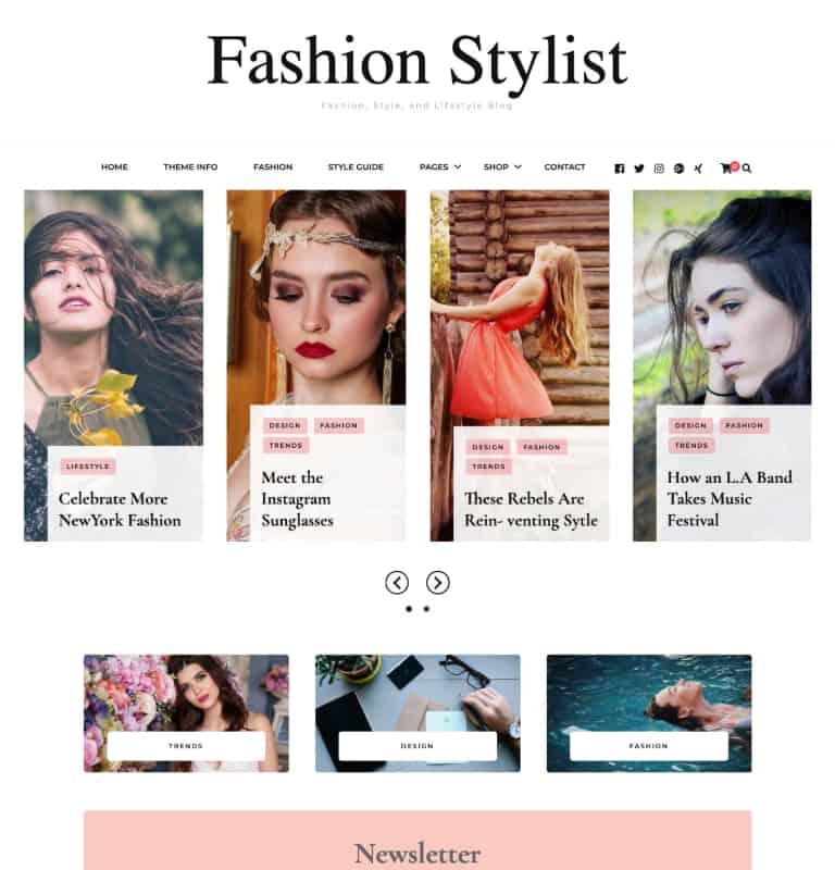Blossom Fashion Stylist WordPress Theme