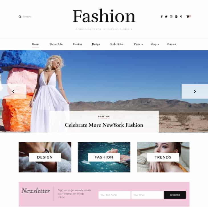 Blossom Fashion WorsdPress Theme