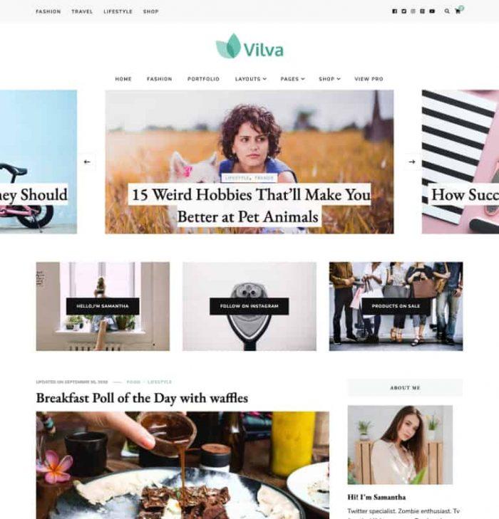 Blossom Vilva WordPress Theme