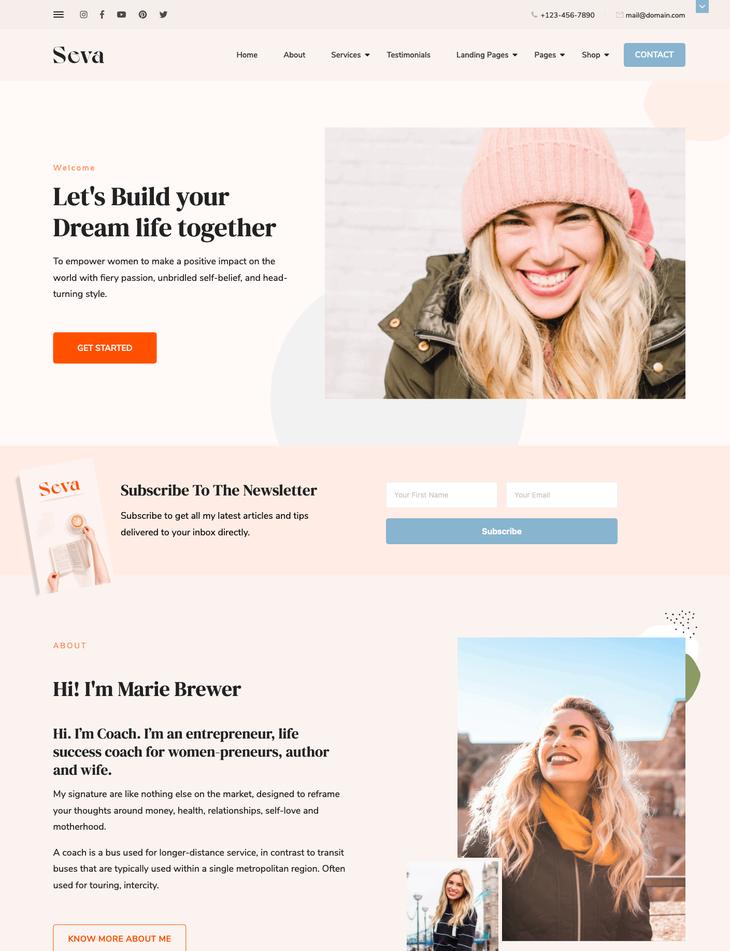 Seva WordPress Theme