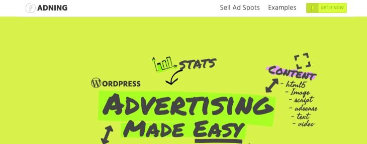 ADning Advertisement WordPress Plugin
