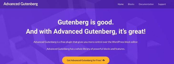 Advanced Gutenberg WordPress Plugin