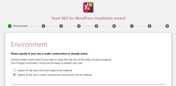 Configuration of Yoast SEO WordPress Plugin